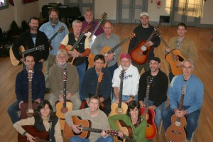 Photo of participants and instructors at guitar camp weekend