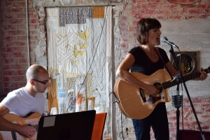 Isabel and Joshua Cohen performing at the Carrboro Music Festival